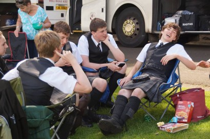 relaxing after competing