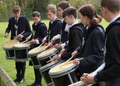 Drummers practice